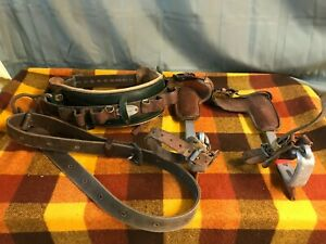 TREE / POLE CLIMBING SET KLEIN-BUHRKE BELT / STRAP & BASHLIN SPIKES OLD SCHOOL