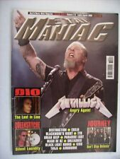 METAL MANIAC #7-8 2008 - METALLICA - DIO - JOURNEY - QUEENSRYCHE