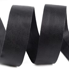 Faux Leather Bias Binding Tape Trim Upholstery Bags Books Black 1 metre x 30 mm