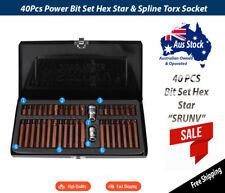 40Pcs SRUNV Bit Set Hex Star & Spline Torx Socket Ratchet