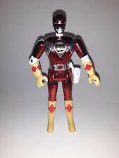 "Vintage MMPR Power Rangers Metallic Chrome Red Ranger 5.5"" Action Figure"