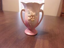 Vintage Hull Vase Iris 406-4 3/4 Pink-Blue-Yellow-Has Chip To Mouth
