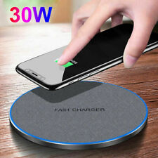 AU 30w Qi Wireless Charger Charging Dock Pad Mat for Apple iPhone 12 Pro Max 11