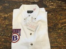 TEXX CANADA JOHNNY B WHITE SHORT SLEEVE BUTTON DOWN SHIRT (NEW W/TAGS)