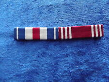 Ordensspange WWII mit 2 Ribbons: Silver Star, good Conduct Army