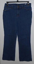 "Jones New York Signature Size 12 PETITE Stretch bootcut Women's Jeans 32"" X 29"""