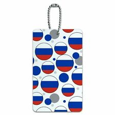 Luggage Card Suitcase Carry-On ID Tag Country National Flag O-S