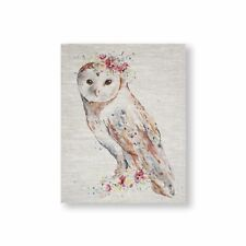 Art for the Home Floral Owl  Printed Canvas (Was £30)