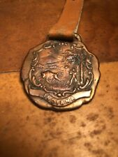 ORIGINAL AUTHENTIC AND VERY OLD WATCH FOB. Advertising ELISTICA FLOOR FINISH.