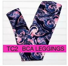 LuLaRoe TC2 LEGGINGS BLACK GALAXY PINK TIE DYE BREAST CANCER AWARENESS BCA 2019