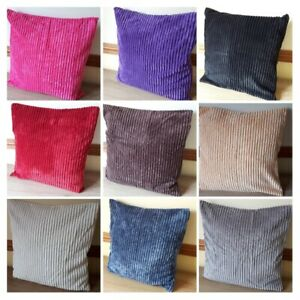 SUPER SOFT CHENILLE JUMBO CORD CUSHION COVER VARIOUS COLOURS **FREE POST**