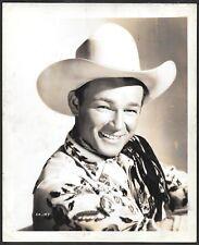Roy Rogers ORIGINAL 1940s Promo Portrait Photo Western Cowboy Hat
