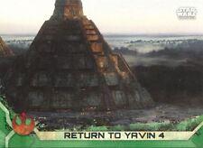 Star Wars Rogue One Series 2 Green Base Card #39 Return to Yavin 4