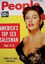 Pinup Magazine 1954 Yvonne De Carlo Marilyin Monroe People Today Pocket NM/M