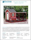 Gable Chicken Coop with Lean-to Kennel Combo Project Plans, Design 60410GL