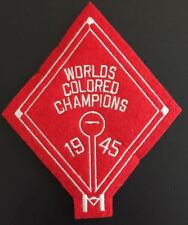 CLEVELAND BUCKEYES PATCH 1945 WORLDS COLORED CHAMPIONS VINTAGE STYLE INDIANS