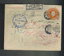 1915 San Luis Potosi Mexico Rezagos Postal Stationery Cover Local use Revolution