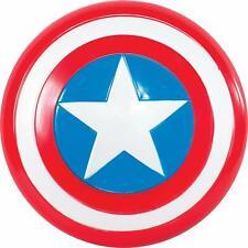 Scudo di Capitan America, Avengers Marvel, Taglia unica per bambini, Plastica