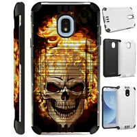 SILVER GUARD For Samsung Galaxy J3 2018 Hybrid Phone Case Cover K11