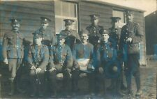 More details for ww1 brecknockshire battalion soldiers group section photo with cook chef