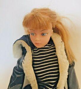 Vintage Dollikin Action Girl Doll- Auburn Hair - with Clothes - A9