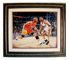 Yevgeniy Korol- Michael Jordan the Greatest Original Oil on Canvas with COA Rare