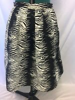 Harvey Who Black And White Tiger Stripe Skirt Size M Women's casual work party