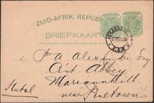 TRANSVAAL, 1896. Post Card H&G 2a, Johannesburg - Mariannhill, Natal