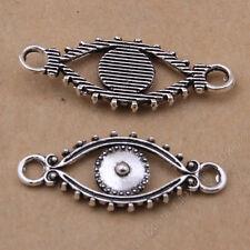 15pc Tibetan Silver Bracelet Charm Pendant Eye Connectors Jewellery Making N787