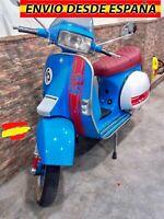 Kit Vinilos Franjas Laterales Calavera moto Scooter Vespa TX200