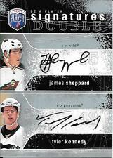 07/08 Be A Player Signatures #JT James Sheppard & Tyler Kennedy Dual Autograph