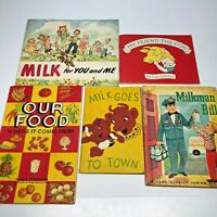 5 Vtg Dairy Advertising Childrens Books National Dairy Council, Bordens, Rand Mc