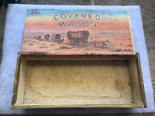Covered Wagon Vintage Cigar Box, Great Graphics, Philadelphia