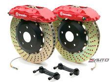 Brembo Front GT Big Brake 4Pot Caliper Red 332x32 Drill Disc Supra JZA80 93-98