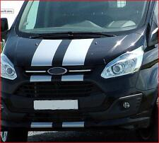 PRE CUT SILVER FORD TRANSIT SPORT CUSTOM BONNET STRIPES DECALS STICKERS GRAPHICS