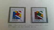 MALTA 1981 SG 661-662 25TH INTERNATIONAL TRADE FAIR  MNH