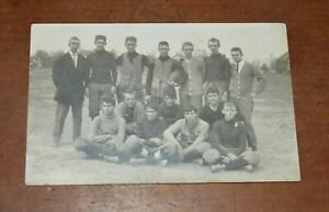 Early 1900's Original Photo Postcard of FOOTBALL TEAM-Great Image!-Low Price