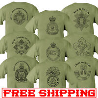 Double Sided Printed Army GREEN / SAND T-shirt AMALGAMATION disbanded QRL RCT