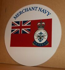 Merchant Navy/Red Duster with veteran's badge vinyl sticker personalised free..