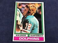 J3-69 FOOTBALL CARD - BOB GRIESE MIAMI DOLPHINS - CARD #200 - 1974 TOPPS