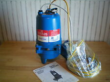 Goulds Waste Water Sewage Pump 2WD52 C0DA Submersible 1/2 HP ~ 1 Phase ~ NEW