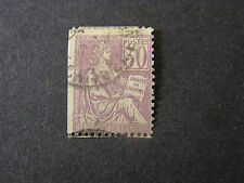 FRANCE, SCOTT # 137, 30c. VALUE LILAC 1902 RIGHTS OF MAN ISSUE USED
