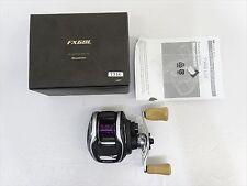 Used Megabass FX68L Left handle Black Bass special bait casting reel F/S EMS JP