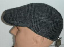 STETSON grey plaid DRIVING Cap Hat SMALL / MEDIUM
