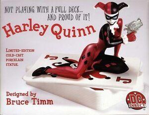 DC COMICS!! HARLEY QUINN STATUE Bust Maquette From JOKER & BATMAN Bust FIGURINE