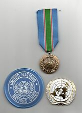 UNITED NATIONS MEDAL FOR LEBANON  ( UNIFIL )   ,UN BERET BADGE AND SLEEVE BADGE