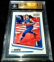LUKA DONCIC 18-19 PANINI CHRONICLES SCORE ROOKIE RC #681 MAVERICKS BGS 9.5 GEM