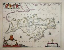 THE ISLE OF WIGHT - VECTIS INSULA BY BLAEU, 1645-8.