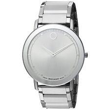 Movado 0606881 Men's SAPPHIRE Silver-Tone Quartz Watch