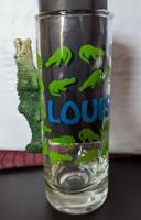 Louisiana Alligator Tall Shot Glass